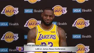 LeBron James' First Press Conference with the Los Angeles Lakers   NBA Media Day 2018