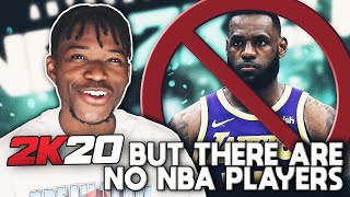 NBA 2K20, but there's no nba players