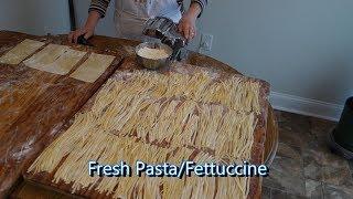Italian Grandma Makes Fresh Pasta/Fettuccine