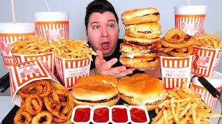 Massive Texas Cheeseburger Tower • Ultimate Whataburger Feast • MUKBANG
