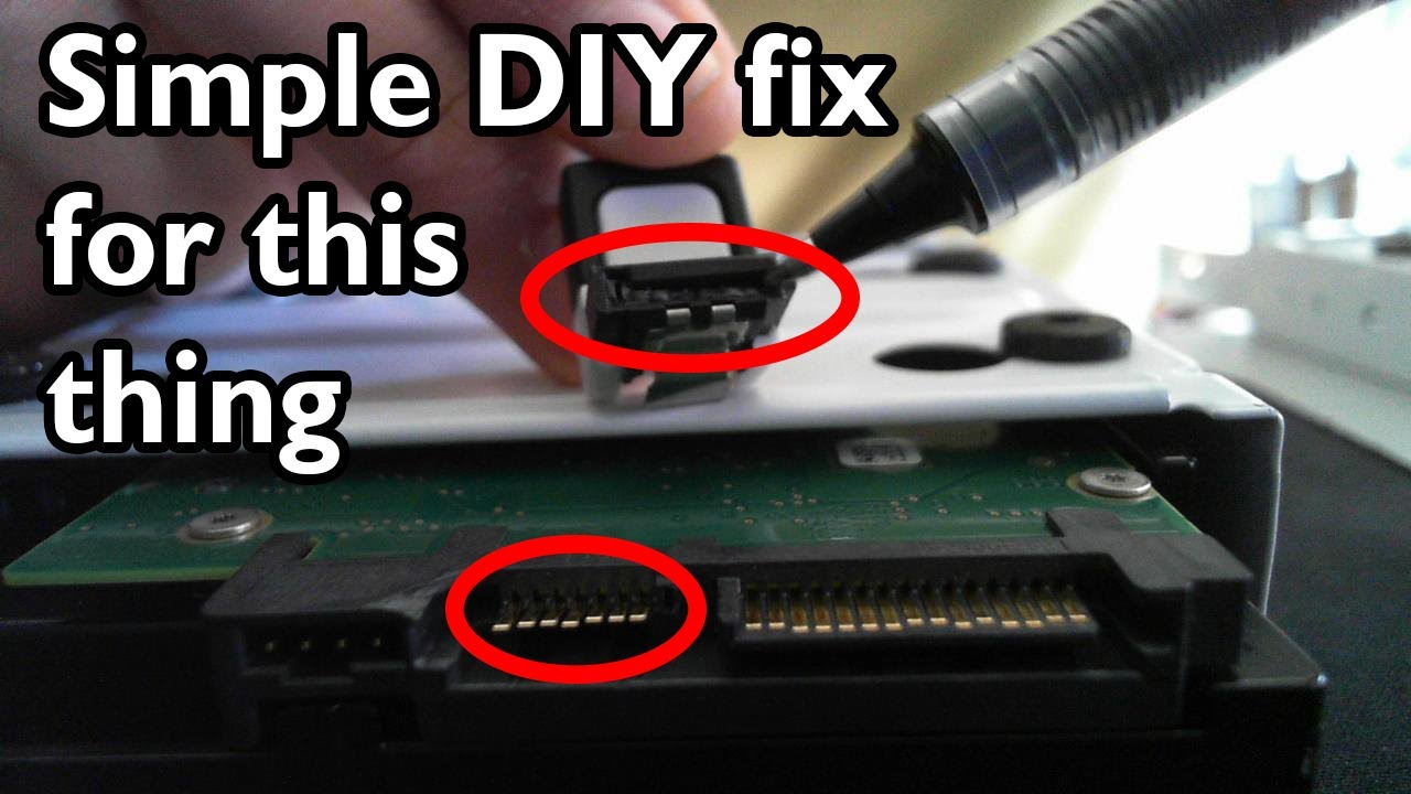 Fixing A Broken Port On Your Sata Device Youtube