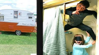 LAST to be FOUND in TINY HOME! Blindfold Hide & seek FAMILY GAME!