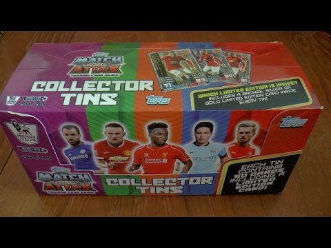 3x COLLECTOR TINS! ☆ ROONEY LIMITED EDITION ☆ MATCH ATTAX PREMIER LEAGUE 2014-15 Trading Cards