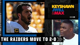 Derek Carr 'has always been fire to me' 🔥🔥 Keyshawn reacts to the Raiders beating the Steelers   KJM