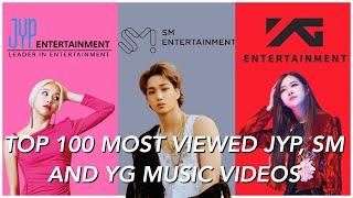TOP 100 MOST VIEWED BIG 3 MUSIC VIDEOS