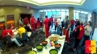 'Gorilla fans gather before the big Elite 8 game and give a warm sendoff to the team!