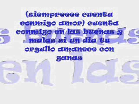 Jerry Rivera - Cuenta conmigo amor letra