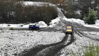 CORTAFUEGOS HELADO ❄ HILL CLIMBING EXTREME OFF ROAD, TOYOTA 🆚 JEEP 🆚 LAND ROVER