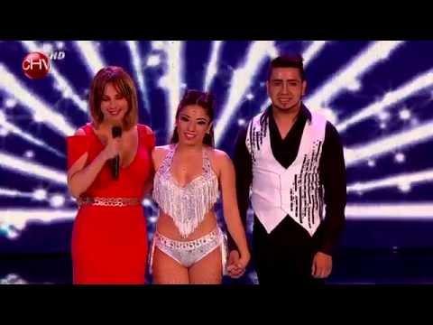 Eva y Gabriel prendieron fuego a la pista con talento y bachata - TALENTO CHILENO 2014