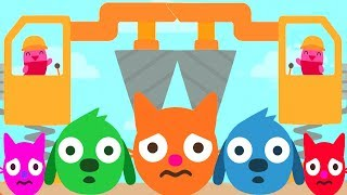 Sago Mini Trucks & Diggers Games - Fun Time To Build Beautiful Color Sago House Gameplay