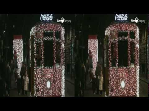 The Milano CocaCola Christmas Tram Trolley in 3D SBS (yt3d:enable=true)