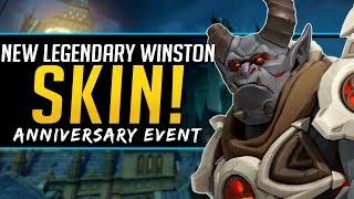 Overwatch NEW Legendary Skin Winston - Anniversary Event 2019