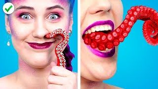 12 Funny Mermaid Hacks in School | Disney Princess School Pranks & DIY Supplies Ideas