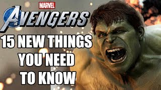 Marvel's Avengers - 15 NEW Things YOU NEED TO KNOW