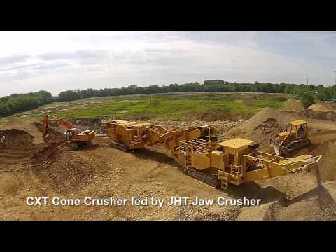 CXT Cone Crusher fed by the JHT Jaw Crusher