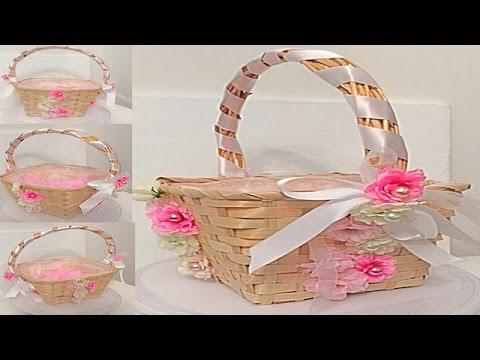 Como decorar una canasta para petalos de boda musica movil - Como decorar una ...