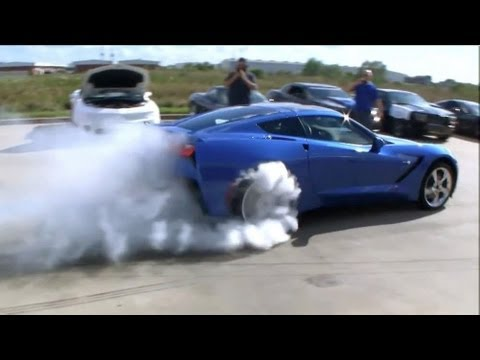 C7 Corvette Burnout