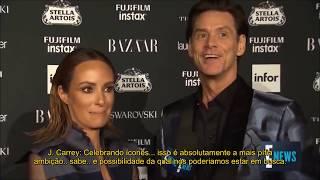 Jim Carrey manda percepção existencialista ao vivo em entrevista na Fashion Week 2017