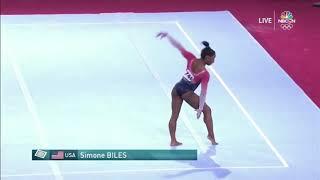 Simone Biles Floor Team Final 2019 World Championships