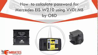 """""""WWW.MK3.COM"""" How  to calculate password for Mercedes EIS W210 using VVDI MB by OBD"""