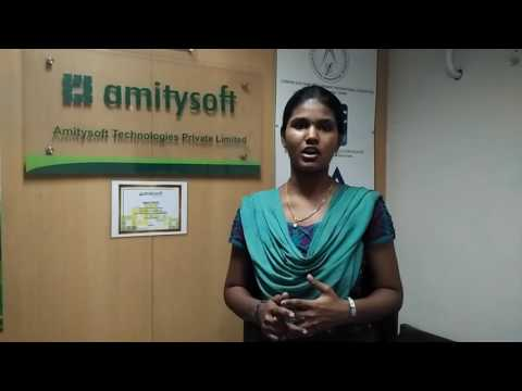 Amitysoft Student V.Lidia Placed @ Ameex Technologies