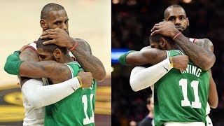 LeBron James Hugs Kyrie Irving After He Returns to Cleveland After Leaving and Handshakes Him!