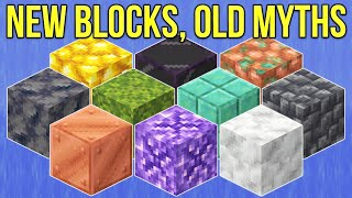 Minecraft 1.17 The New Blocks Of The Caves & Cliffs Update [Minecraft Myth Busting 130]