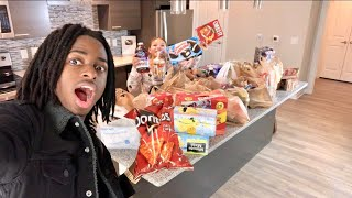 INSANE GROCERY SHOPPING FOR OUR NEW HOME!!!