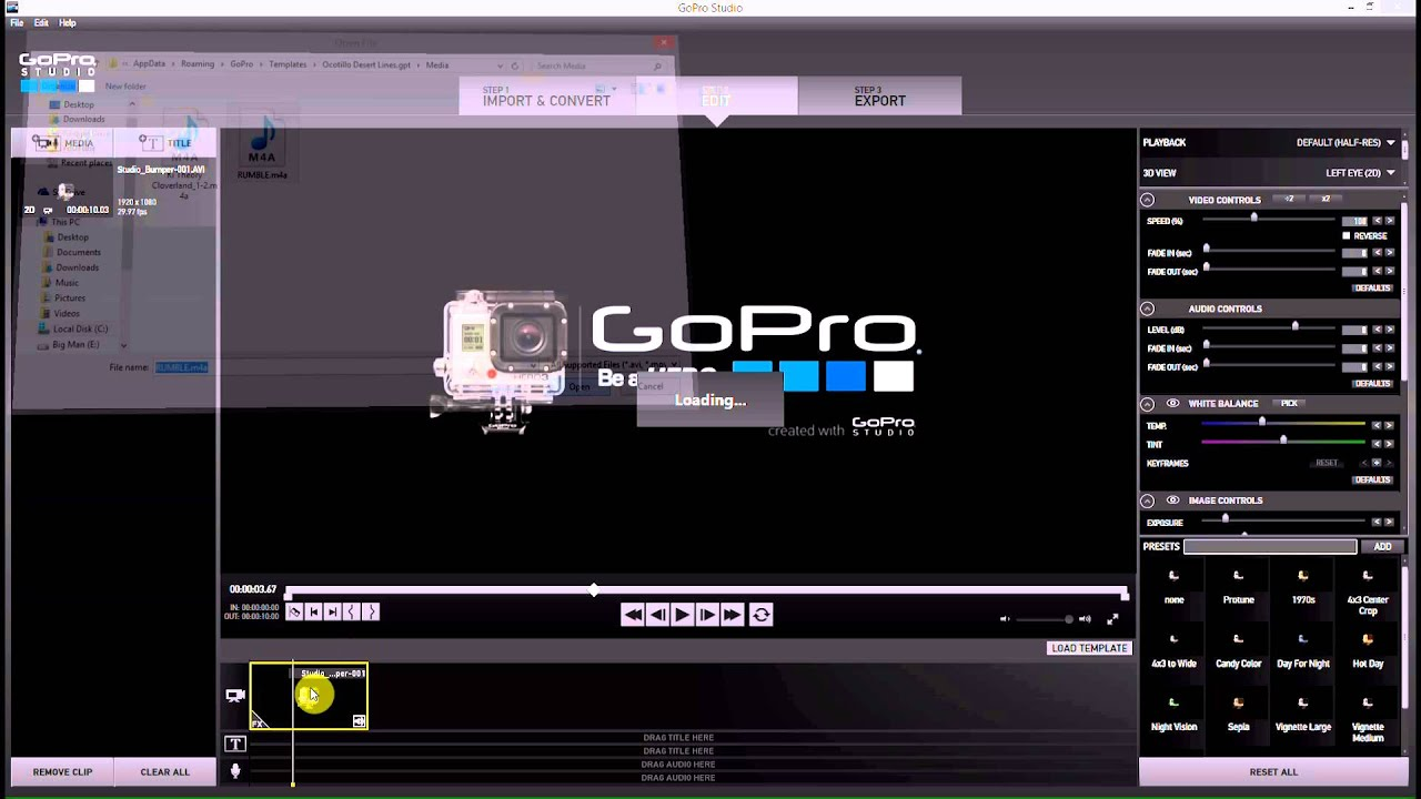 Add gopro intro to any video gopro studio 2 0 gopro for How to use gopro studio templates