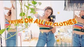 Trying On All The Clothes I Own! 👚 Closet Clean-Out pt. 1