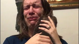 Cat comforting crying owner will make you sob