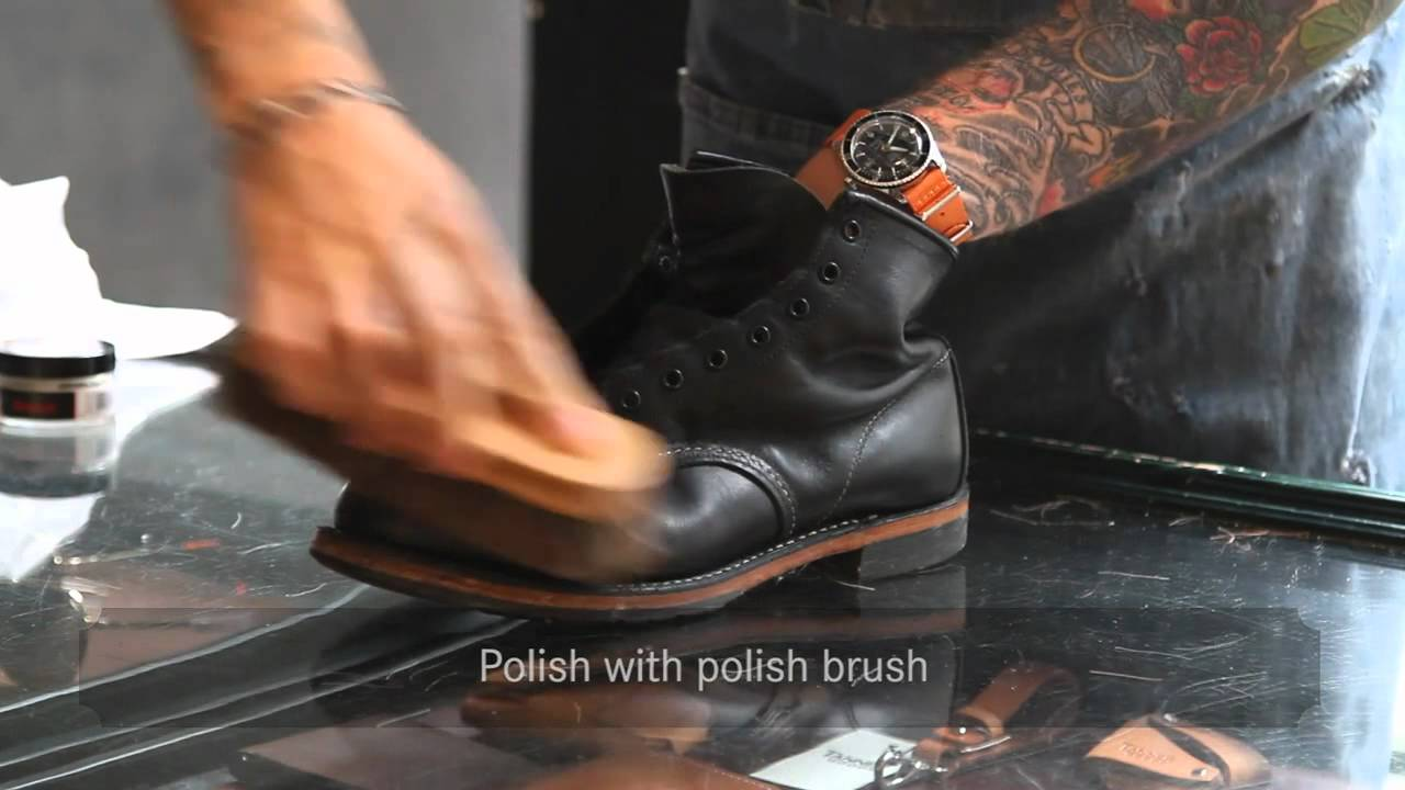 Red Wing Shoes Amsterdam Shoe Care Youtube