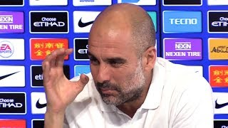 Pep Guardiola Embargoed Pre-Match Press Conference - Man Utd v Man City - Manchester Derby