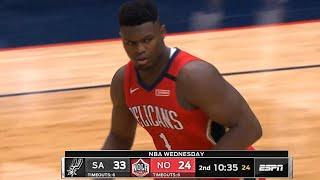 New Orleans Pelicans vs San Antonio Spurs 1st Half Highlights | January 22, 2019-20 NBA Season