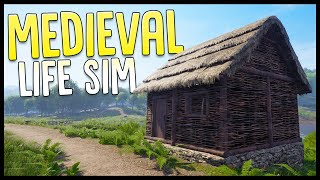 Building My First Medieval Home - Medieval Life Simulator - Medieval Dynasty