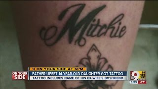 Dad angry after 14-year-old daughter gets tattoo, but that's not the worst part