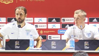 Gareth Southgate & Jordan Pickford Pre-Match Press Conference - Spain v England -UEFA Nations League