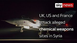 US, Britain and France launch military strikes on Syria