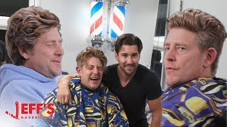OLD MAN SHOCKED BY NEW HAIRCUT - Jason Nash | Jeff's Barbershop