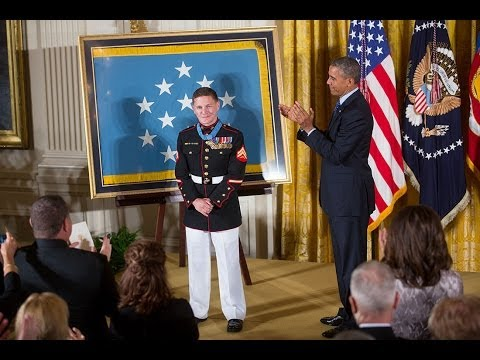 The President Awards the Medal of Honor to Corporal William