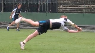 Brilliant catches - England cricketers Ben Stokes and James Tredwell