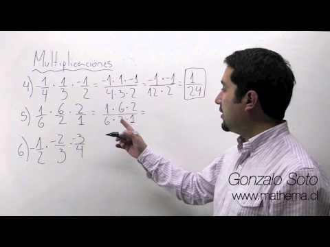 Fracciones: Multiplicación de fracciones