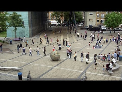 "Amalia Pica's ""Asamble"" at Peckham Square, London"