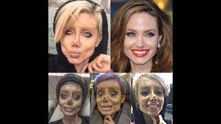 sahar tabar Se hizo 50 cirugías para parecerse a Angelina Jolie i Sus Fan Dicen Que Se Parece zombie