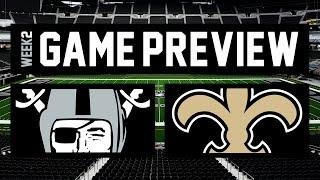 Game Preview: Las Vegas Raiders vs. New Orleans Saints