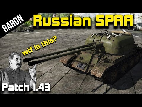 War Thunder 1.43 New Russian Anti Aircraft vs Jets - ZSU-57, ZSU-37, ZUT-37 - No Stalinium?