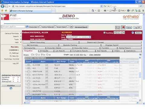 Anthelio Patient Information Exchange (PIE) Demo