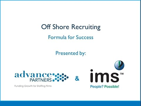 Educational Webinar Offshore Recruiting