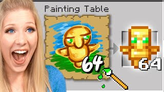Minecraft But I Get Whatever I Paint...