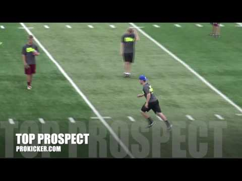 Zach Clements, Kickoffs, Ray Guy Prokicker.com Top Prospect Camp 2016